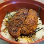 食堂きかく - サバだしらーめん&ミニソースかつ丼セット1,050円のミニソースかつ丼