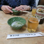 大衆割烹 三州屋 - 「ビール お通し付」750円