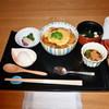 京都 つる家 茶房 - 料理写真:・豆腐ハンバーグ丼~温玉添え~ ※小鉢、吸物、香物付 (通常価格1,296円)