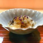 和食 こんどう - 料理写真:牡蠣酒蒸し、長芋に土佐酢のジュレ