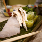 の弥七 - スジアラと松茸の鍋
