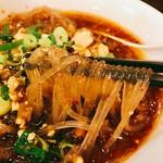 大明担担麺 - 麺は春雨でかなりヘルシー♡モッチリした感じで食べ応えもしっかりありいいですね~