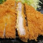 とんかつ 酒菜 くら - ロースかつ150g、肉の厚みは最大で0.8㎝くらい
