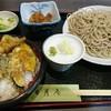 そば処 三日月庵 - 料理写真:ミニ天丼セット蕎麦大盛り +150円