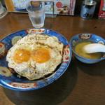 白楽天 - 料理写真:焼豚玉子飯。単品でスープ付き。