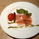 神戸ビーフダイニング モーリヤ - 生ハムとトマトのピクルスの前菜
