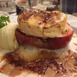 59357181 - 「紅玉林檎のオーブン焼きグラタン仕立て、塩キャラメルのシーブスト添え」