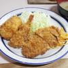 キッチンタロー - 料理写真:ミックスフライライス(700円) メンチ、コロッケ、海老