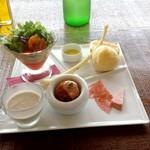 ロッサ - 季節野菜の具沢山ペペロンチーノ 前菜