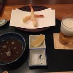 料理旅館・天ぷら吉川 - さいまき海老よりスタート