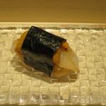 鮨 なかや - スミイカ+ムラサキ雲丹