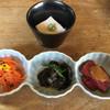 はせ川 - 料理写真:前菜3種と胡麻豆腐