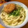 吾里丸 - 料理写真:かけうどん&メンチカツ