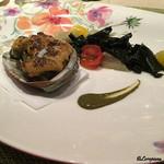 オステリア T - メインの鮑の海胆焼き