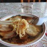 のんきや - 手打ちチャーシューメンの麺
