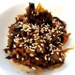 ゴル麺。 - 炎の高菜は味噌と和えてます