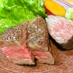 和食 直 - 池田牛のヒレ肉とミスジ