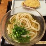 宮武讃岐うどん - 冷かけ(並) + さつま芋天(徳島県産鳴門金時)