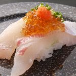 ぴんとこな - 真鯛  もみじおろしが真鯛の味を引き締めます