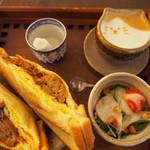 Cafeゆう - ホットサンドセット