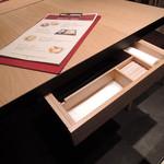 59634315 - お箸とうはテーブルの引き出しに入ってます