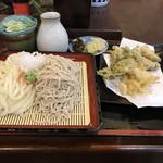 山菱屋 - 合い盛りと野菜天ぷら付¥780