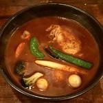 SAMA - チキンスープカレー辛さ30番、1050円です。