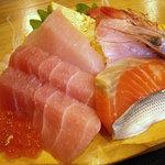 魚河岸おに平 - 「刺身定食」刺盛り
