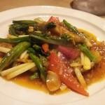 ビストロシノワ YASMIN - 野菜のXO醤炒め