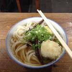 宮川製麺所 - かけうどん大240円、玉子天90円