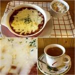 フルハウス - カレーソースのバターライスドリア900円+ドリンクセットのコーヒー220円