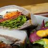 みのりカフェ - 料理写真:野菜のマリネと蔵王クリームチーズのサンド