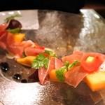 ビストロ オリーブ - 生ハムと季節のフルーツ