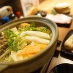 炭火居酒屋 炎 - イベリコ豚豆乳しゃぶ鍋