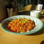 喫茶ぴあ - 料理写真:チキンライス、スープ付き