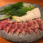 さなみ - 地鶏と白仁田ねぎのすき焼き1,000円(税別)