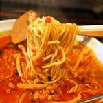 麺や 蓮と凜 - 赤の激辛担々麺(麺)