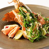 希少な「ゲタ海老」料理 (1尾) ~一品団扇蝦~