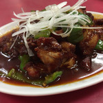 台湾ラーメン光陽 - 料理写真:2016.12.5再訪。 鶏肉四川風炒め☆。.:*・゜