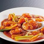 楽友軒 - 料理写真:海老のチリソース炒め