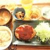 玄米はーもにぃ - 料理写真:玄米菜食ランチセット(写真はベジハンバーグ)900円