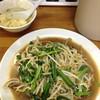 麺麺亭 - 料理写真:最初にスープ、だいぶ経ってからニラレバ炒め480円が登場