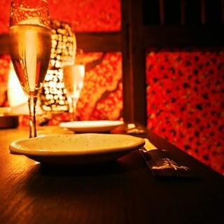 ◆和紙を散りばめた和モダンな個室◆大切な御宴会に最適です。