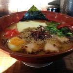 分田上 - ラーメン700円+チーズ(無料トッピング)(横)