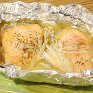 秋鮭と茸のホイル焼き