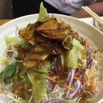 寿苑 - ガーリックサラダ