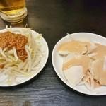餃子の福包 - 坦々豆腐、蒸し鶏
