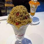 フラベド - 鶴見昂氏の栗のパフェ ¥1200 繋ぎはほぼ使っていないと思われます、純度の高い栗のクリーム。      他店では味わえない月読みシリーズのパフェ