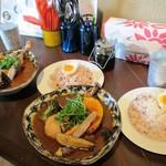スープカレー ポニピリカ - 皮がパリッとしたチキンと野菜のカレーx2人前