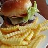 ウエストコーストカフェ白馬 - 料理写真:ハンバーガーセット1,000円
